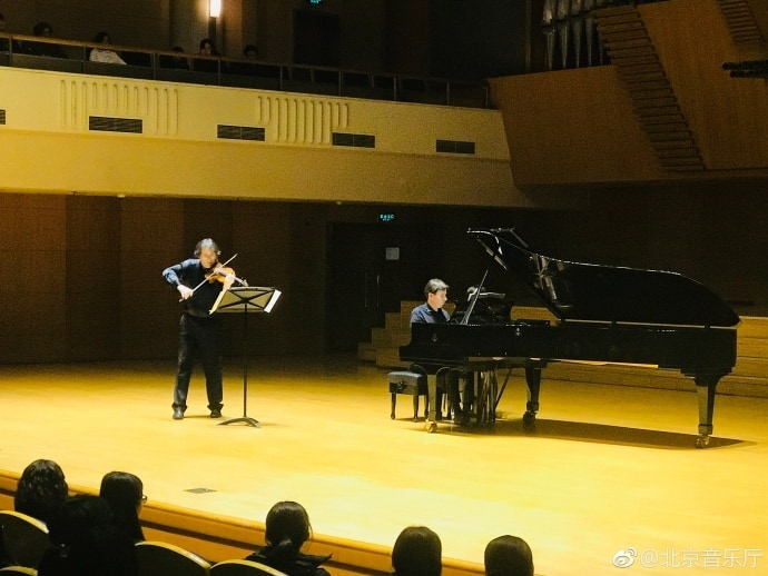 Perfect Chamber Music Co-operation of the Duo Balzalorsky-Caelen at Beijing Concert Hall
