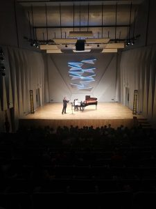 Volodja Balzalorsky and Peter Caelen at Jiangmen: Concert Hall of Jiangmen Performing Art Centre