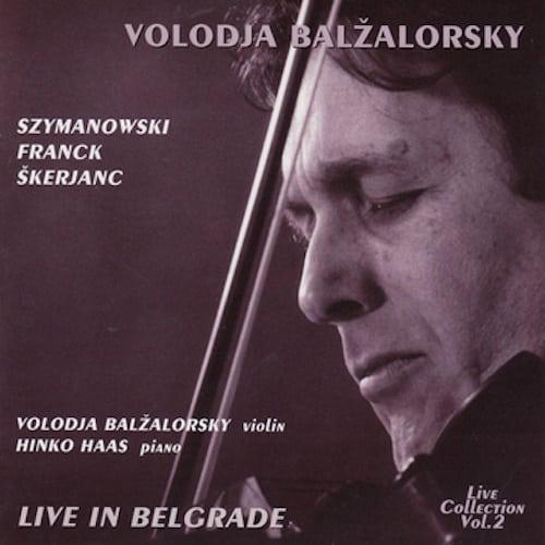 Live in Belgrade CD Cover
