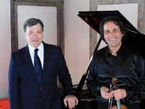 Aleksandar Serdar and Volodja Balzalorsky: Photo Session at Knight Hall - Festival Ljubljana